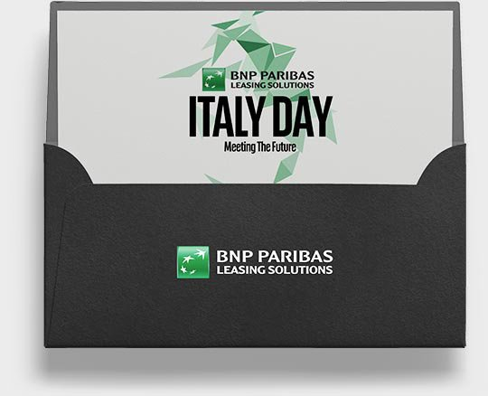 About Agency - BNP Paribas - evento brochure nera