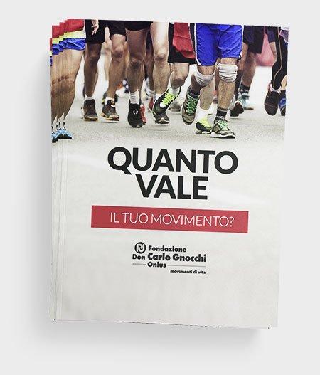About Agency - progetto movimenti di vita volantini- Fondazione carlo gnocchi onlus