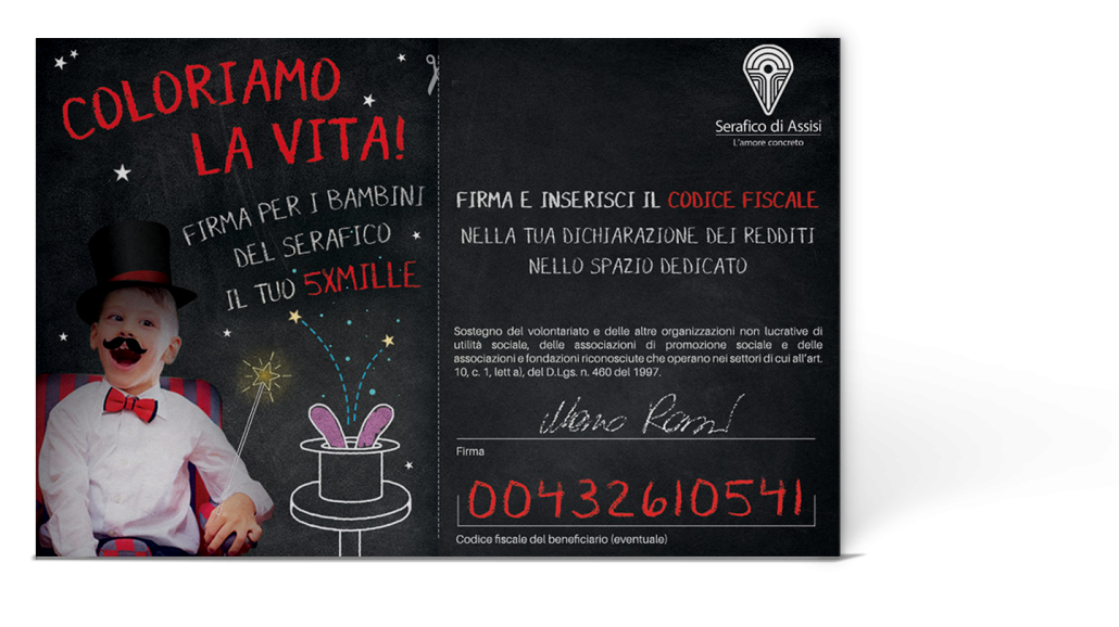 About Agency- Istituto Serafico campagna 5x1000 - The Prosumer Agency